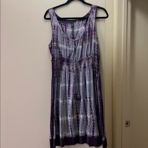 lucky brand tie dyed dress size L